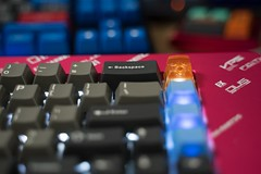 Mechanical Keyboard Collection (Silver Chew) Tags: custom keyboard mechanical switches cherry mx keycaps profile keycap gaming technology retro vintage filco resin