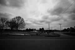 Cemetery (Harley Mitchell) Tags: rain blackandwhite northcarolina cemetery