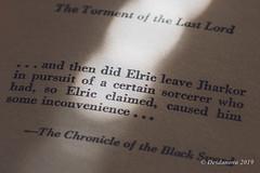 The Vanishing Tower (Book Four of the Elric Saga) - Angled (Desdanova) Tags: macro macromondays text stockton california unitedstatesofamerica