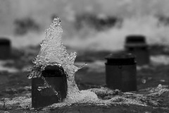 Frozen Dance / Замерший танец (Boris Kukushkin) Tags: water fountain bw вода фонтан чб closeup юпитер 37а jupiter 37a
