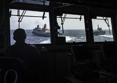 190801-N-WI365-1011 (SurfaceWarriors) Tags: photoex js uss ussashland ussgreenbay jsise jskunisaki formation helicopter destroyer lsd48 lpd20 ddh182 lst 4003 jmsdf coralsea