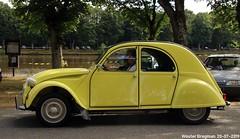 Citroën 2CV Spécial 1977 (Wouter Bregman) Tags: cj877jk citroën 2cv spécial 1977 citroën2cv 2pk eend geit deuche deudeuche 2cv4 yellow jaune cédrat célébrationcentenairedecitroën célébration centenaire 2019 lafertévidame 28 eureetloire eure et loire france frankrijk vintage old classic french car auto automobile voiture ancienne française vehicle outdoor