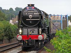 Tornado as the Aberdonian (eric robb niven) Tags: ericrobbniven scotland tornado steamtrain engine railway dundee broughty ferry