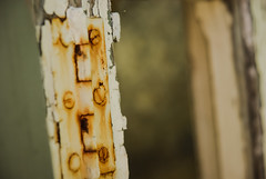Rusty hinge (Jose Rahona) Tags: rusty oxidado bisagra hinge tornillos screws ventana window puerta door