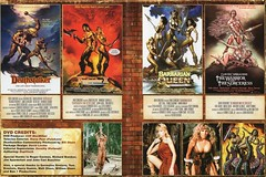 """USA vintage-style DVD cover art for Sword-n-Sorcery collection - """"No Quarter?"""" (moreska) Tags: usa vintage dvd coverart swordnsorcery deathstalker 1980s barbarianqueen retro muscle battle sexy busty heroine drivein genrefilms bmovie growingup shout factory reissues digital collectibles archive us north america fantasy lanaclarkson"""
