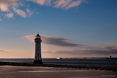 Lighthouse (Neil Adams Photography (Wirral)) Tags: lowlight lowkey bluesky blue sunlight