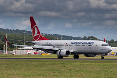 Turkish Airlines 737-800 (Martyn Cartledge / www.aspphotography.net) Tags: plane airplane fly flying airport wings edinburgh aircraft aviation air transport flight jet aeroplane civil airline boeing edi airliner aero airfield 737800 turkishairlines wwwaspphotographynet tcjvy photography asp flywinglets