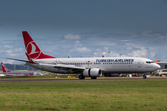 Turkish Airlines 737-800 (Martyn Cartledge / www.aspphotography.net) Tags: plane airplane fly flying airport edinburgh aircraft aviation air transport flight jet aeroplane civil airline boeing edi airliner aero airfield 737800 tcjvy photography wings asp turkishairlines wwwaspphotographynet flywinglets