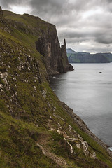 Witches Finger (Manadh) Tags: landscape seascape sea stack seastack faroe islands faroeislands manadh pentax sigma mountain clouds