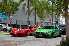 Speciale Vs. AMG GT R (Andre.Silot) Tags: ferrari 458 speciale spec quattro cinque otto nart stripe v8 v 8 rosso corsa scuderia carbon fiber fibra de carbono street rua special edition mercedesamg exotic exotics cars car 2019 mercedes amg gt r gtr d3200 d 3200 green hell magno verde vermelho vermelha red combo