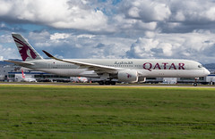 Qatar A350-900 (Martyn Cartledge / www.aspphotography.net) Tags: plane airplane photography fly flying airport wings edinburgh aircraft aviation air transport flight jet aeroplane civil airline airbus asp edi airliner aero qatar airfield a7ala a350900 wwwaspphotographynet flywinglets
