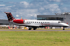 Loganair ERJ135 (Martyn Cartledge / www.aspphotography.net) Tags: plane airplane fly flying airport wings edinburgh aircraft aviation air transport flight jet aeroplane civil airline edi airliner aero airfield embraer loganair erj135 gsajb photography asp wwwaspphotographynet flywinglets