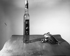 Still Life - Film Sinar (Photo Alan) Tags: vancouver canada blackwhite blackandwhite monochrome bw wine table film largeformat 4x5 filmcamera filmscan sinar sinarf schneidar