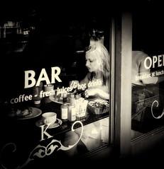untitled--306 (Stevenchen912) Tags: streetphoto streetcandid streetportrait streetphotographer window bar contrast contrst shadow dark lady alone inspired candid cadid urbanlife restaurant bw blackwhite
