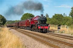 45699. Seamer Junction. (Alan Burkwood) Tags: seamerjunction yorkshire lms stanier jubilee 45699 galatea scarboroughspaexpress 1z27 scarboroughcarnforth steam locomotive