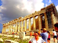 Acropolis. The Parthenon (dimaruss34) Tags: newyork brooklyn dmitriyfomenko image sky clouds greece athens acropolis people ruins architecture parthenon