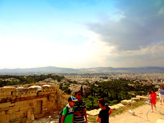 Acropolis. View from the Foot of Agrippa's Pedestal (dimaruss34) Tags: newyork brooklyn dmitriyfomenko image sky clouds greece athens acropolis people ruins panoramicview
