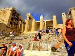 Acropolis. The Propylaea (dimaruss34) Tags: newyork brooklyn dmitriyfomenko image sky clouds greece athens acropolis people ruins architecture propylaea
