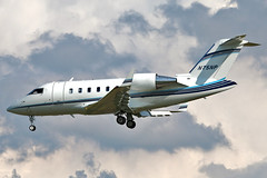 N75NP Bombardier CL-600 2B16 Challenger 605 at KCLE (GeorgeM757) Tags: n75np bombardier challenger605 bombardier6002b16 bizjet aircraft aviation airplane airbus kcle georgem757 landing corporate canon