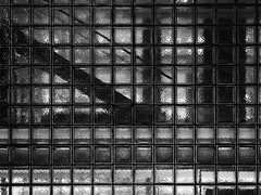 Block Wall (Nick Condon) Tags: abstract architecture blackandwhite block ginza glass japan lights night olympus45mm olympusem10 stairs tokyo transmission wall windows