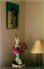 """Pico's Cora con Flores"" (Marcia Portess-Thanks for a million+ views.) Tags: pico'scoraconflores flowers flores art home lamp wall vancouver corner painting photography design map livingroom decor furnishings cora acrylicart marciaportess marciaaportess"