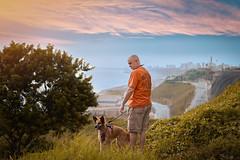 Costa Verde (Grabsenraw) Tags: nature dog people retrato pet mascota summer verano mar costa color perú peru sunset