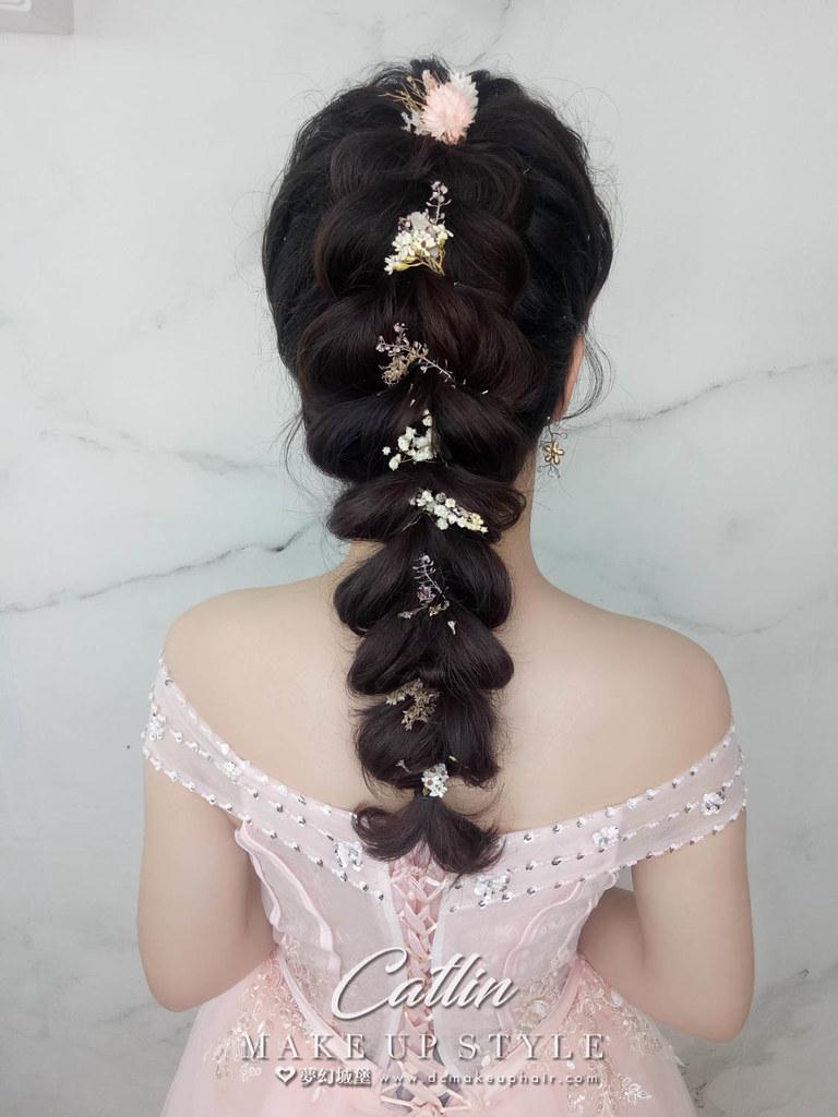 【新秘Catlin】新娘造型創作 / 甜美後編髮