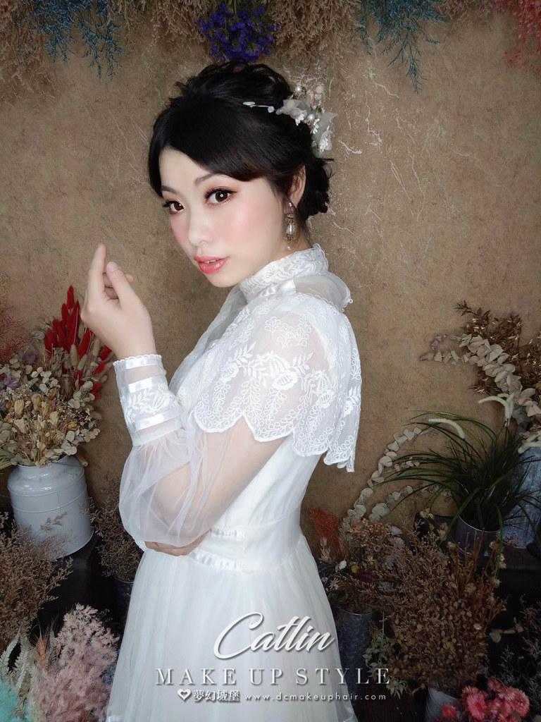 【新秘Catlin】新娘造型創作 / 編織盤髮造型