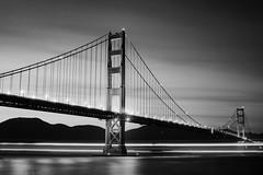 the gate (eb78) Tags: ca california blackandwhite bw monochrome greyscale grayscale sf sanfrancisco goldengatebridge longexposure