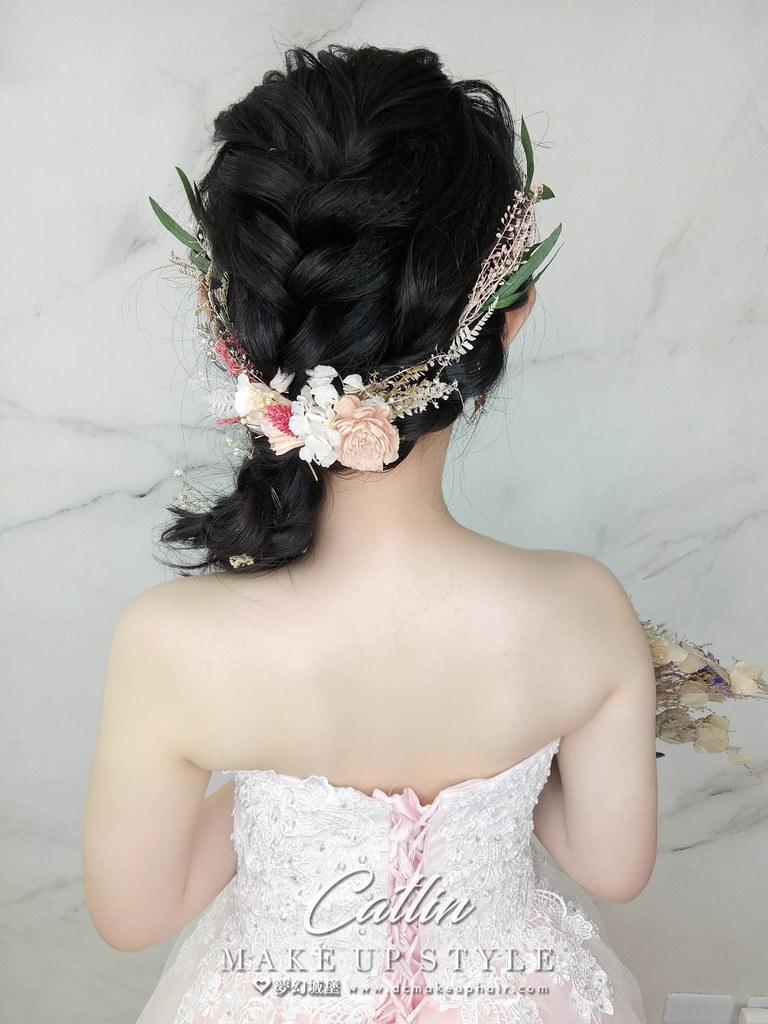 【新秘Catlin】新娘造型創作 / 側編髮造型