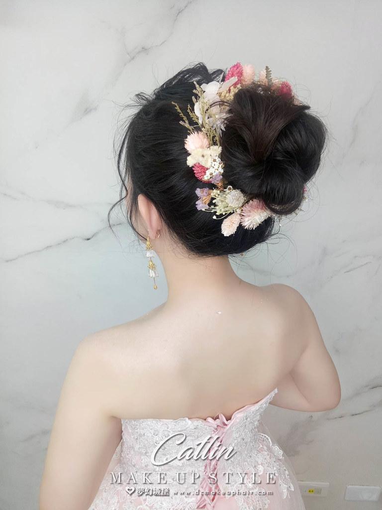 【新秘Catlin】新娘造型創作 / 甜美花苞頭