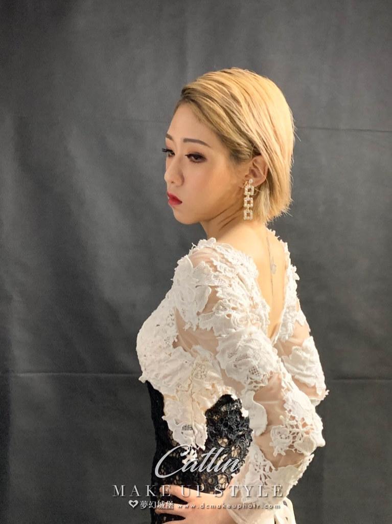 【新秘Catlin】新娘造型創作 / 短髮-俐落造型