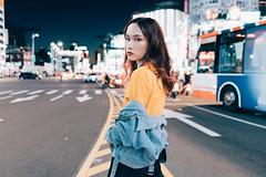 (Kevin .H) Tags: 台灣 台北 女孩 外拍 攝影 街頭 西門町 人像 taiwan taipei women girl photography photos street people night lights portrait