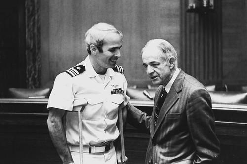 John McCain, after his release, with his father
