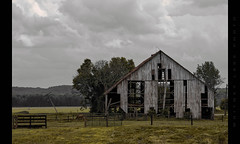 Decrepit Barn (Whitney Lake) Tags: field clouds landscape indiana rural barn rurex decay decrepit abandoned explore 333