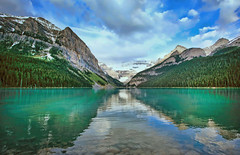 Lake Louise (ashockenberry) Tags: reserve wilderness west nature naturephotography natural beautiful beauty majestic mountains landscape park banff national ecosystem native ashleyhockenberryphotography lake louise sky clouds