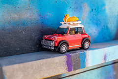 On the road for vacation (Ballou34) Tags: 2019 7dmark2 7dmarkii 7d2 7dii afol ballou34 canon canon7dmarkii canon7dii eos eos7dmarkii eos7d2 eos7dii flickr lego legographer legography minifigures photography stuckinplastic toy toyphotography toys stuck in plastic road vacation car mini red blue
