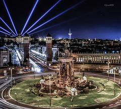 Barcelona (*Nenuco) Tags: longexpousure largaexposición 18105 d5300 nikkor nikon montjuic plaçad'espanya plazadeespaña barcelona jesúsmr