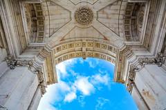 ... view to heaven ... (wolli s) Tags: arcodaruaaugusta lisboa lisbon lissabon blue portugal sky regiãodelisboa nikon d7100 heaven