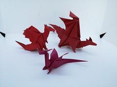 Little dragon by Armin Tàubner, others by Jo Nakashima (Stefano Borroni (Stia)) Tags: origami origamipaper origamicdo origamilove origamiart piegarelacarta arte folding foldingpaper papiroflexia carta animali natura draghi drago dragon cdoitalia fantasy