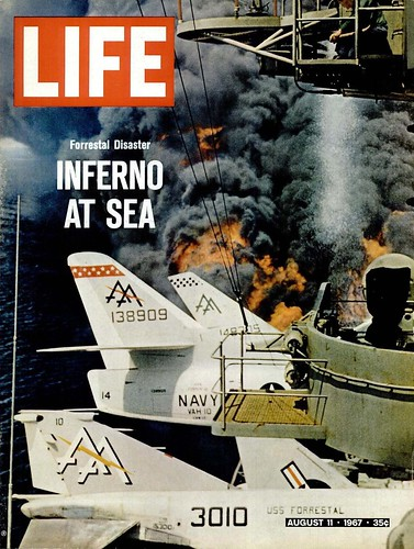 LIFE Magazine, AUGUST 11, 1967 (1) - Forrestal Disaster - INFERNO AT SEA