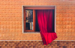 Red Curtain (marcus.greco) Tags: red curtain conceptual window street