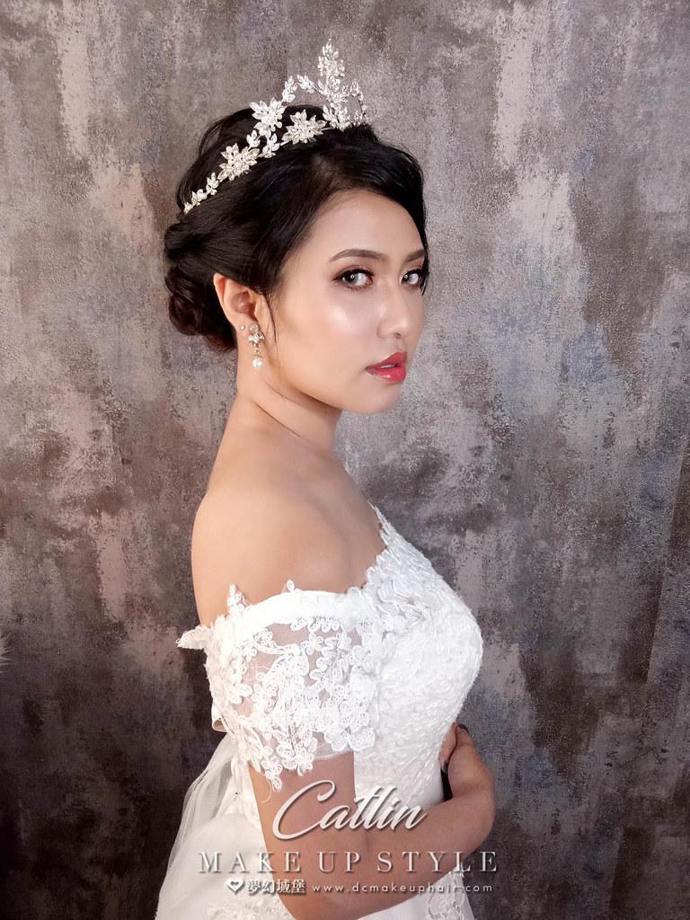 【新秘Catlin】新娘造型創作 / 白紗皇冠造型