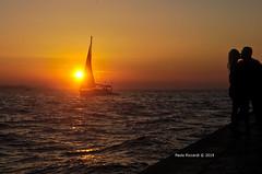 Kissers on the sunset (RoyBatty83) Tags: pentax pentaxk5 pentaxiani pentaxda1855wr da1855wr da pentaxda1855alwr tappo tappowr zadar zara croazia hr europeanview travelineurope pier porto molo mare croatia sunset boat sail