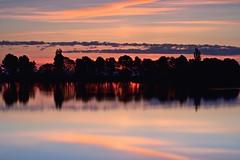 Colores al amanecer (pascual 53) Tags: xabi canon eos1dmarkiii 70200mm amanecer laestanca corella navarra lucroit lee largaexpo calma arboles reflejos