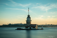 A maiden's last fall (Through_Urizen) Tags: architecture bosphorus category external istanbul longexposure maidentower places turkey canon70d canon1585mm canon seascape dusk evening sky clouds pastelcolours coast europe tower historic legend architecturephotography travelphotography