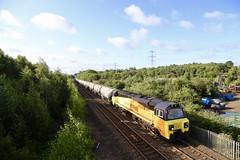 70817 Beighton Jn 07 Aug 19 (doughnut14) Tags: 70817 rail freight diesel loco cum colas thurrock oxwellmains beighton ermewa tarmac jga 4s89 oldroad midland