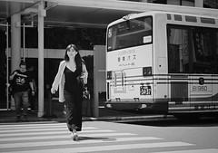 Behind the bus (Bill Morgan) Tags: fujifilm fuji xpro2 35mm f14 bw alienskin exposurex45 jpeg acros