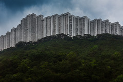 The Great Wall (Peter Stewart Photography) Tags: wonderland villas apartments flats hong kong kowloon daylight stacke buildings jungle forest hilltop wall