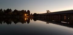 Sunset Reflections (Rckr88) Tags: vanderbijlpark southafrica south africa sunset reflections sunsetreflections sunsetreflection reflection rivers river vaal vaalriver bridge bridges water tree trees sunsets sun sunlight